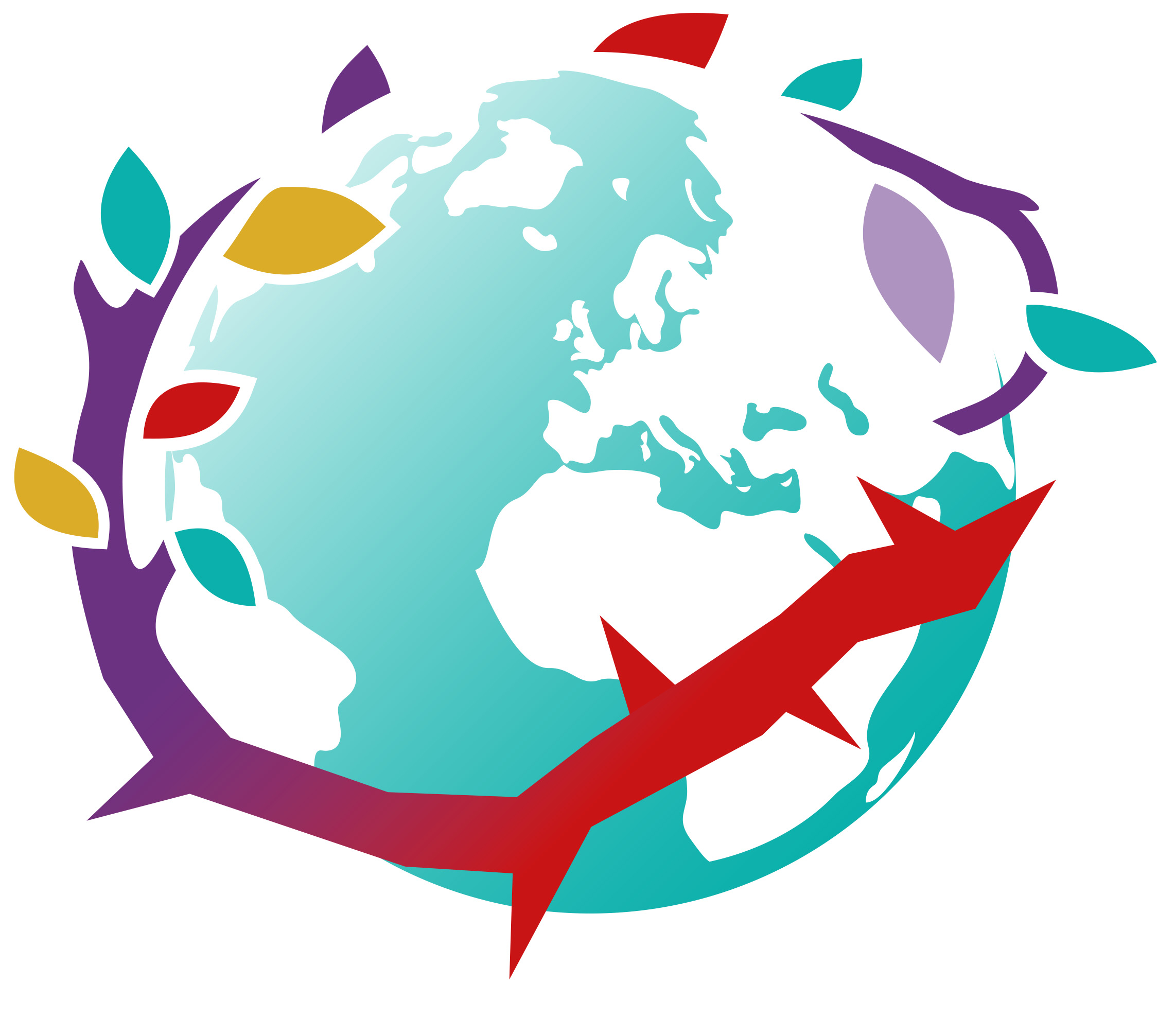 Logo op basis van samenwerking van 6 organisaties: EAV, Open Doors, HVK, OMF, 4M en Gave Veste